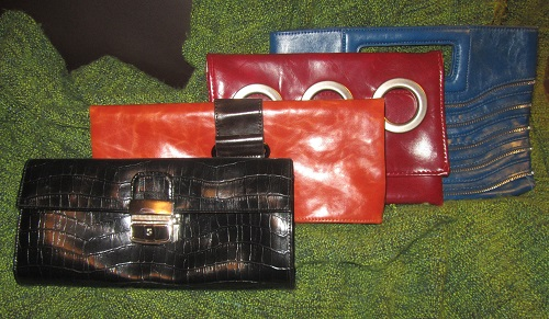 three hand-made bags