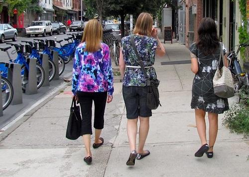 walking through Williamsburg