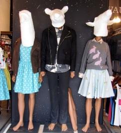 three mannequins