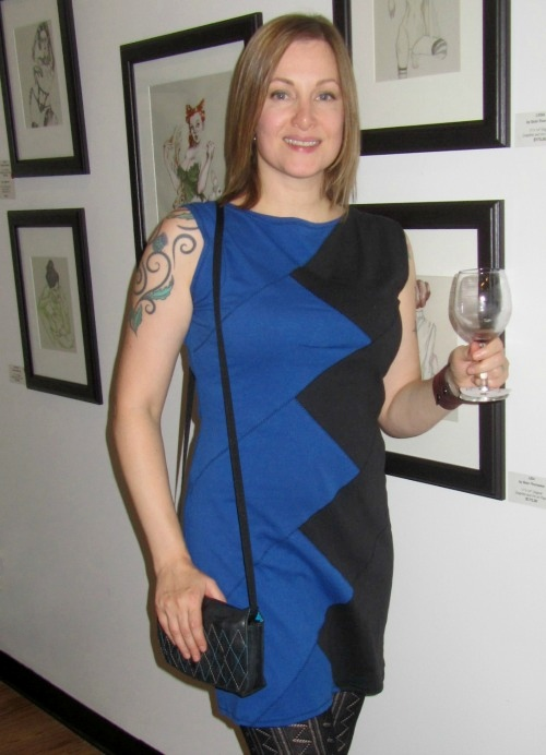 Jean in Lois Eastlund dress