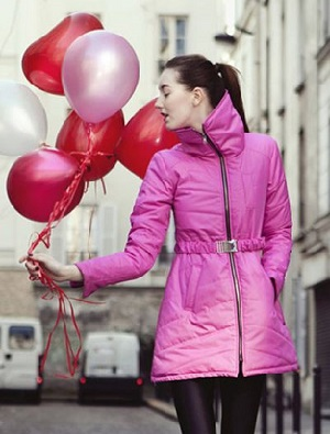 image of woman in pink parka c/o Vaute Couture