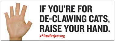 anti-declaw billboard