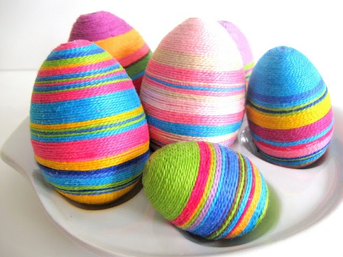 yarn-wrapped eggs