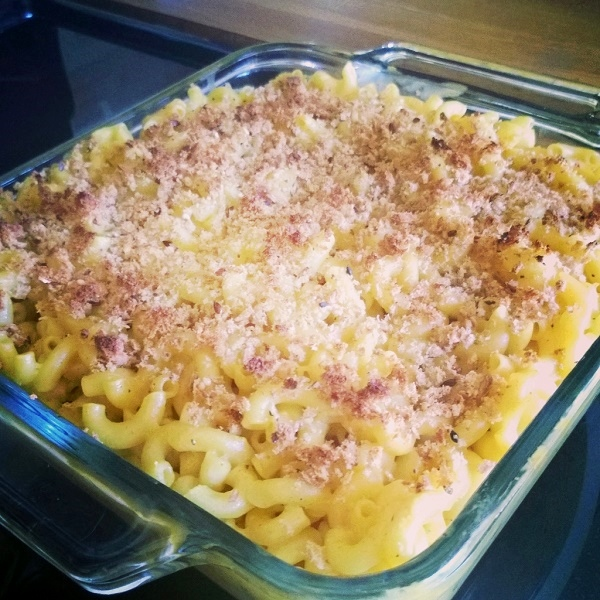 mac n cheese made with miyoko's